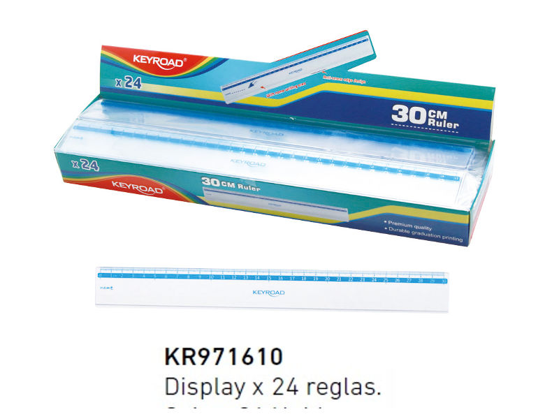 REGLA PLASTICA 30CM DISPLAY (X24)