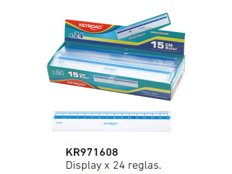 REGLA PLASTICA 15CM DISPLAY (X24)