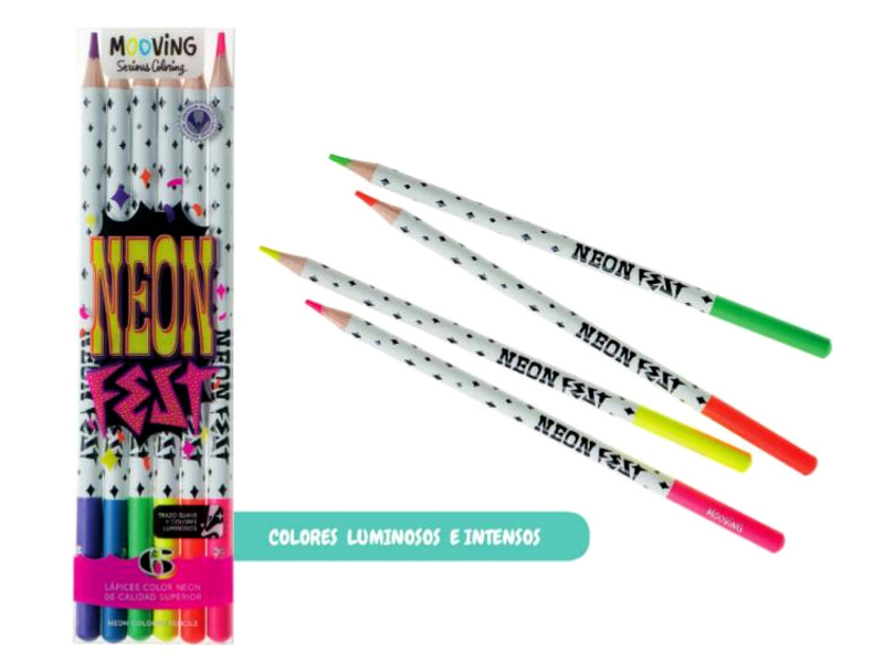 LAPICES COLORES X6 NEON SERIOUS COLORING