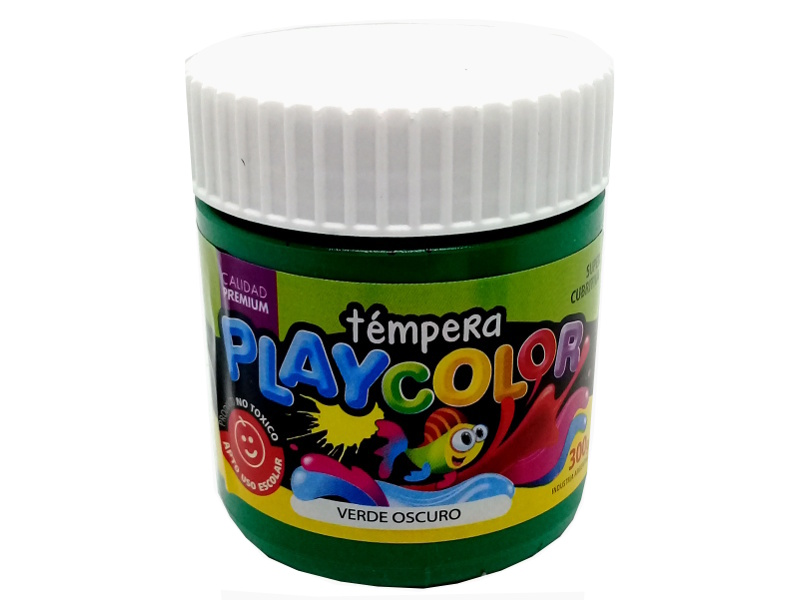 TEMPERA VERDE OSCURO POTE 300GRS PLAYCOLOR