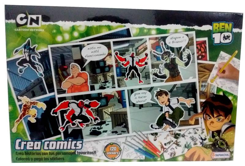 JUEGO CREA COMICS C/120 STICKERS BEN 10 - DDN