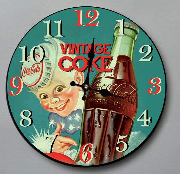 RELOJ PARED 30CM VINTAGE COKE
