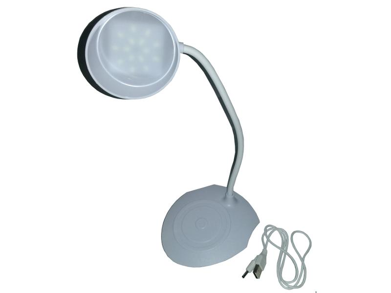 VELADOR LED 3 NIV. DE LUZ C/BATERIA Y CABLE USB BLANCO