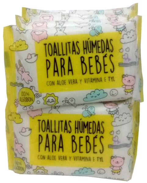 TOALLAS HUMEDAS P/BEBES (X10)