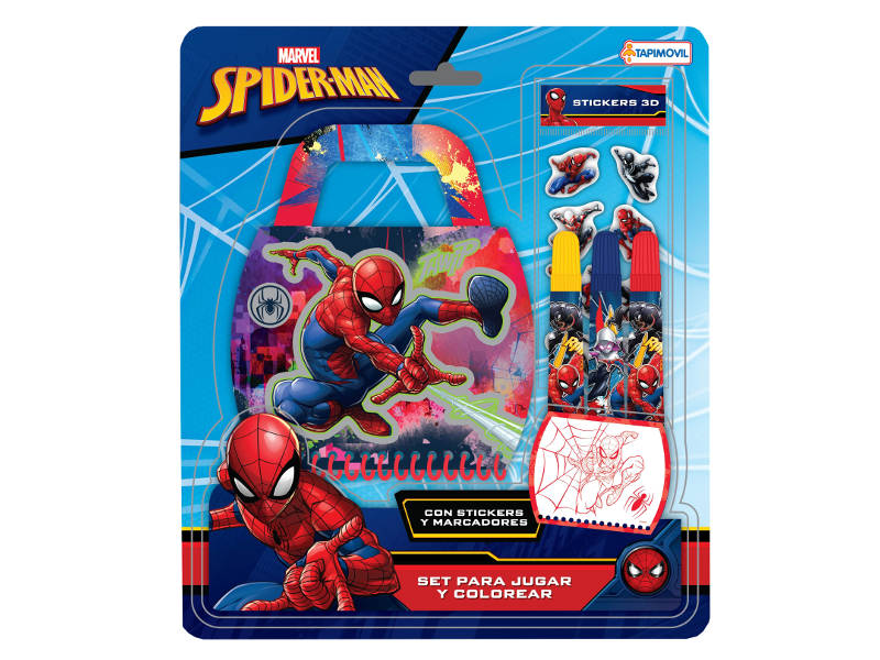 SET P/JUGAR Y COLOREAR MALETIN SPIDERMAN - DDN