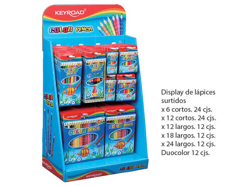 EXHIBIDOR LAPICES DE COLORES X96UDES