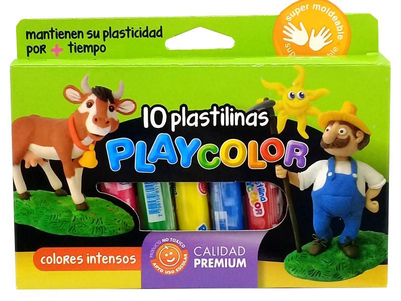 PLASTILINA X10COL. PLAYCOLOR