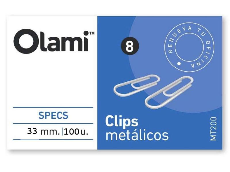 CLIPS METALICO X100 Nº4 (X10)