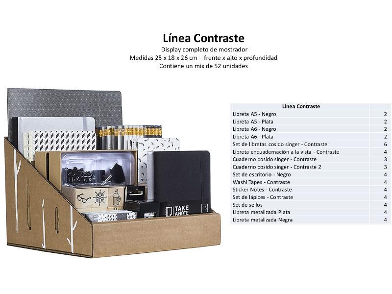 EXHIBIDOR MOSTRADOR CARTONE X52UDES LINEA CONTRASTE