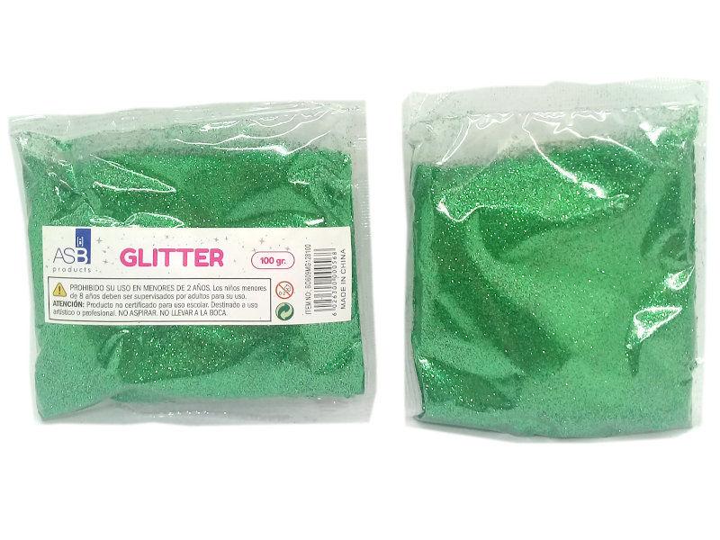 GLITTER MET.X100g.EXTRA FINO 8100/BO609 VERDE NAV.F128
