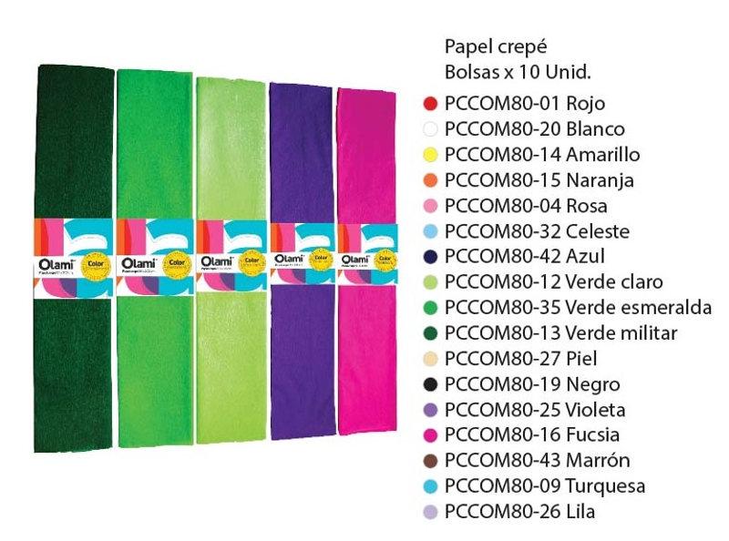 PAPEL CREPE CLASICO MODELOS VARIOS (X10)