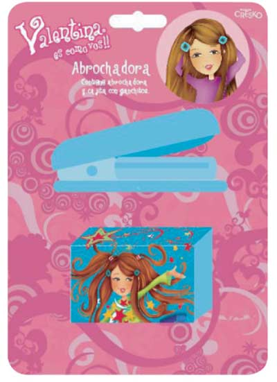 SET ESCOLAR ABROCHADORA+BROCHES VALENTINA