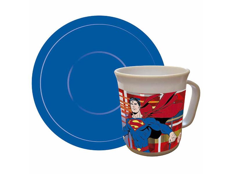 SET TAZA C/PLATO SUPERMAN