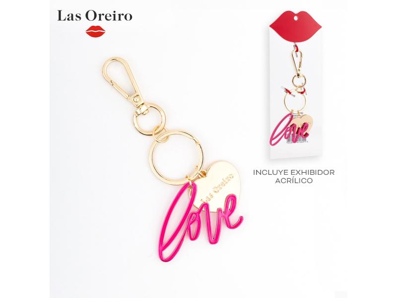 LLAVERO METALICO LOVE LAS OREIRO