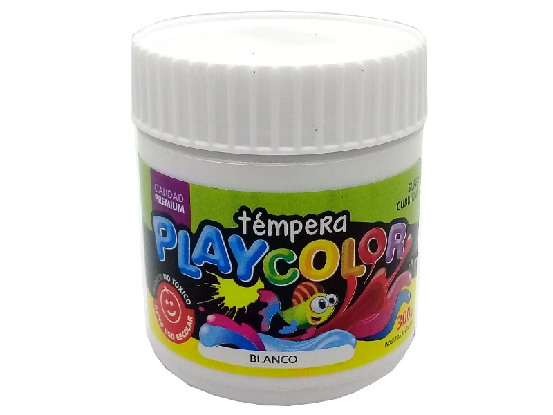 TEMPERA BLANCO POTE 300GRS PLAYCOLOR