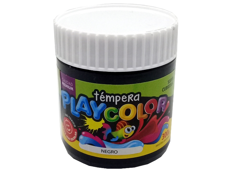 TEMPERA NEGRO POTE 300GRS PLAYCOLOR
