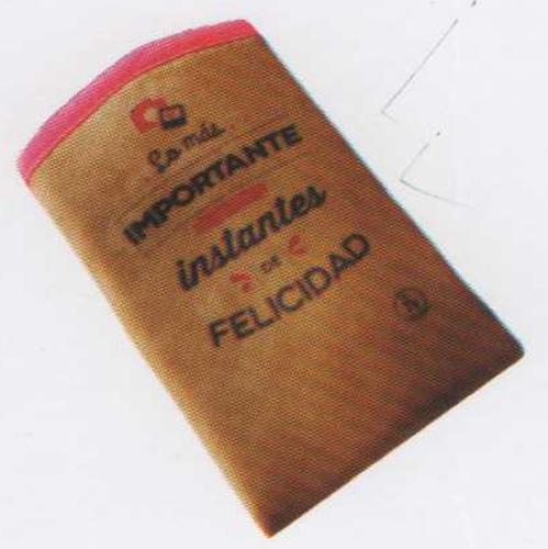PORTACELULAR GAMUZA 8X15CM FELICIDAD