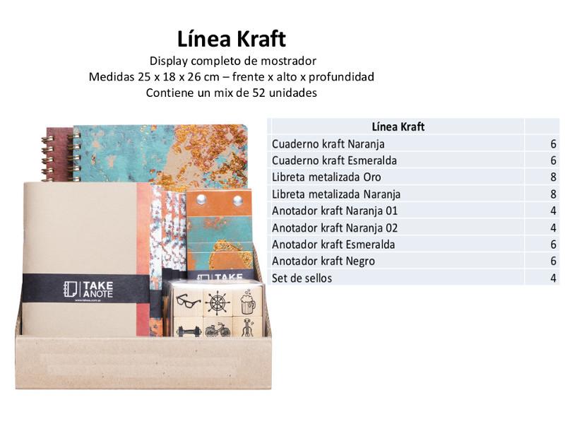 EXHIBIDOR MOSTRADOR CARTONE X52UDES LINEA KRAFT