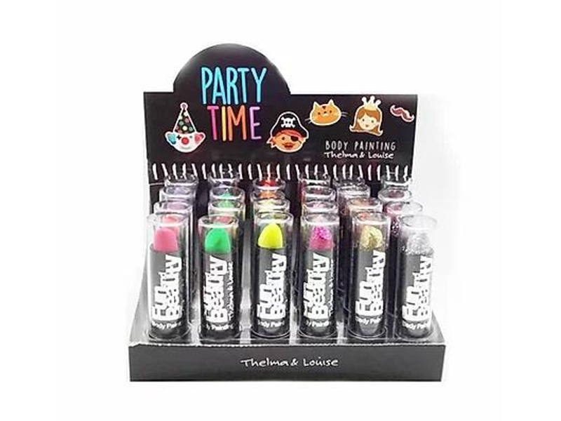 LABIAL GLITTER/FLUO PARTY TIME (X24)