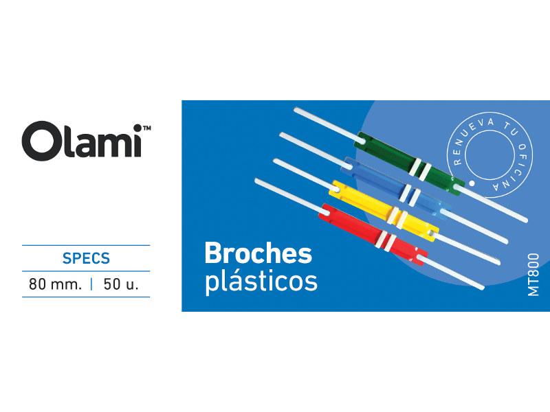 BROCHES PLASTICOS ENCUADERNAR X50 (X10)