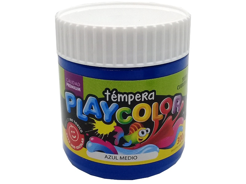 TEMPERA AZUL MEDIO POTE 300GRS PLAYCOLOR