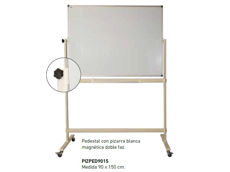 PIZARRA PEDESTAL MAGNETICO DOBLE FAZ 90X150CM