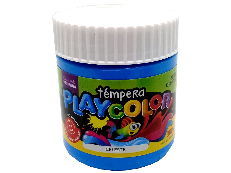 TEMPERA CELESTE POTE 300GRS PLAYCOLOR