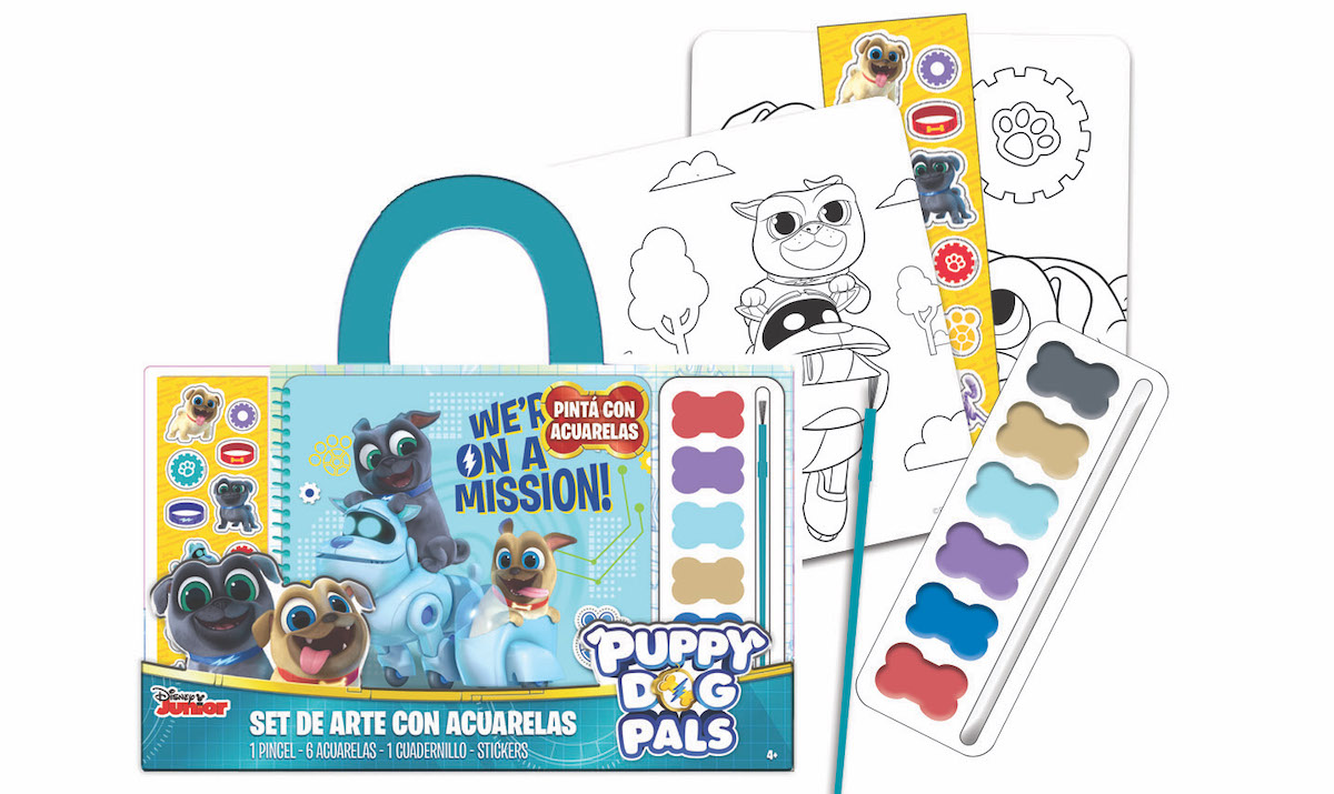 SET DE ARTE C/ACUARELAS PUPPY DOG PALS - PM - - DDN