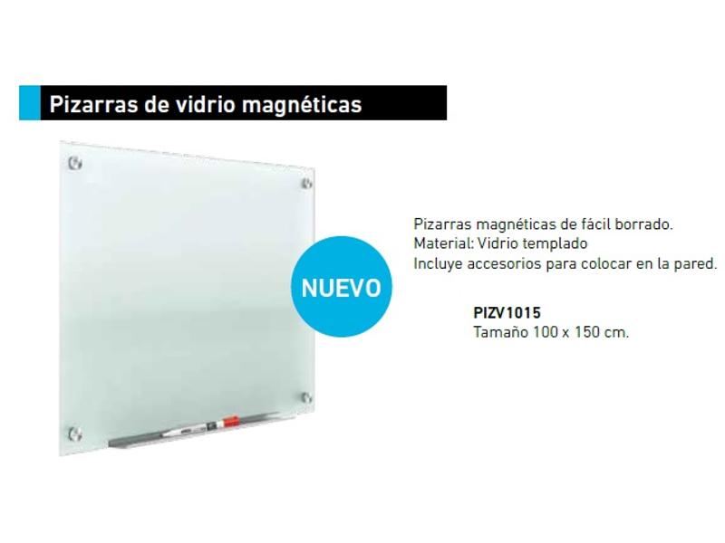 PIZARRA MAGNETICA VIDRIO TEMPLADO 100X150CM