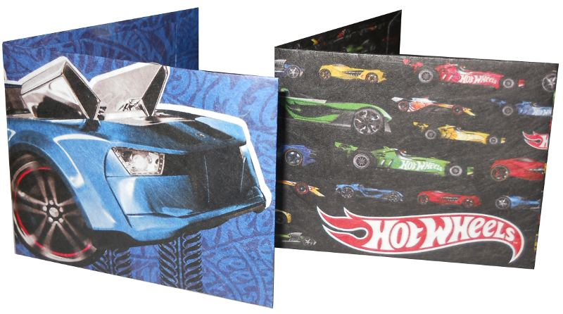 BILLETERA ECOLOGICA TYVEK HOT WHEELS