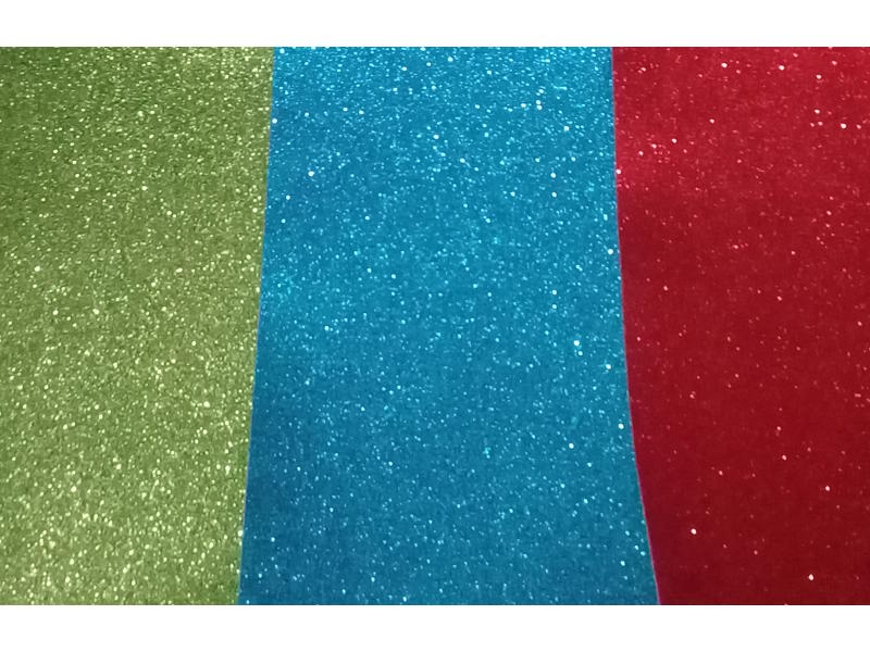 PLANCHA GOMA EVA 40X60CM. SUPER GLITTER ADHESIVA - RX -