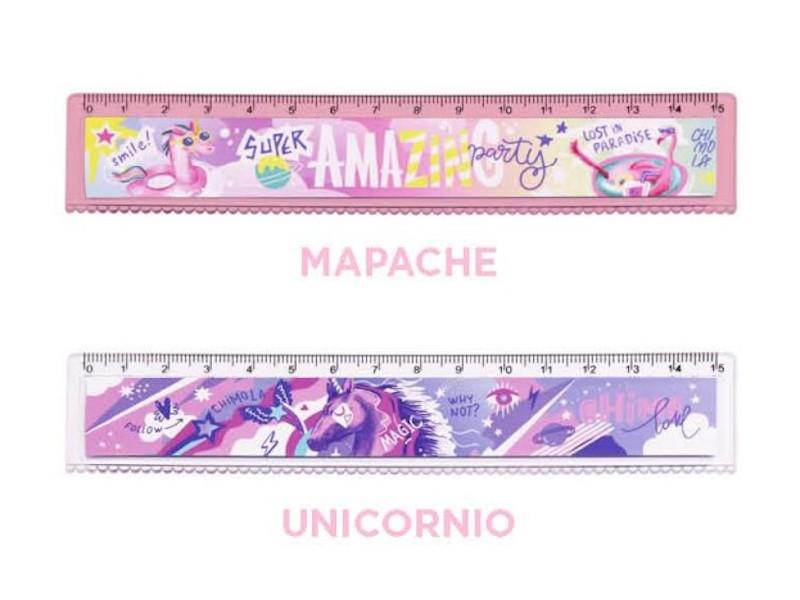 REGLA 15CM MAPACHE/UNICORNIO (X60)