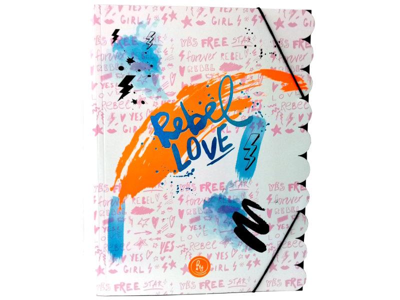 CARPETA 3 SOLAPAS COOL LOVE REBEL