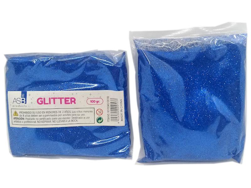GLITTER MET.X100g.EXTRA FINO 8100/BO705 AZUL FRAN.F128