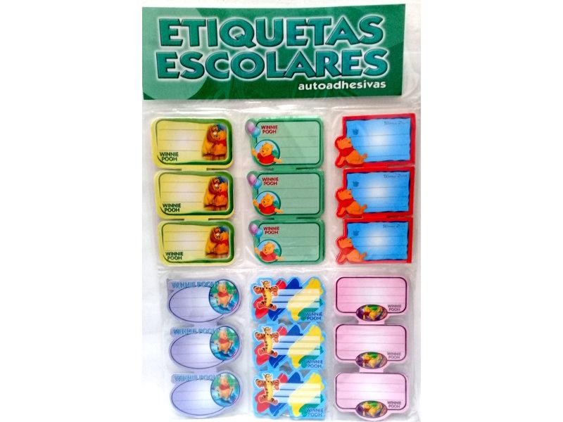ETIQUETAS AUTOADHESIVAS 60P. X3U. WINNIE POOH