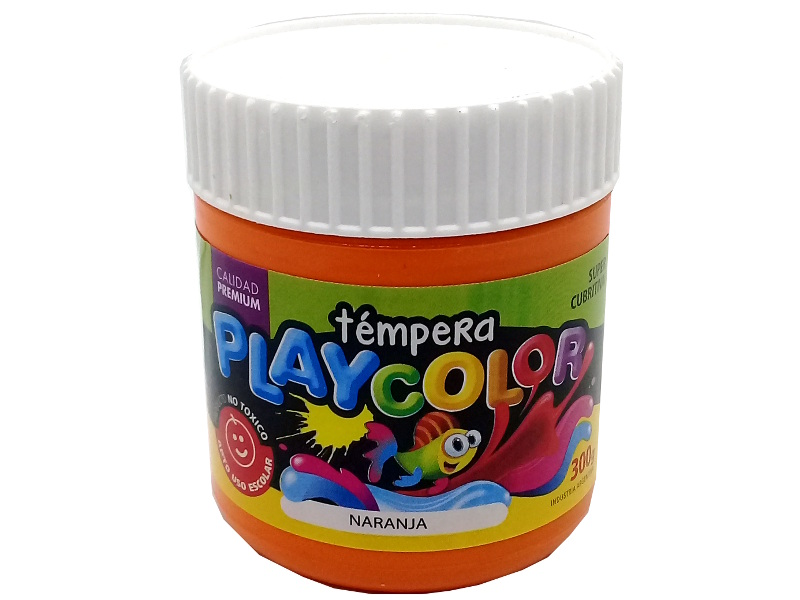 TEMPERA NARANJA POTE 300GRS PLAYCOLOR