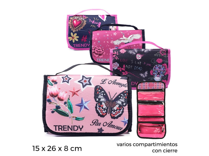 ORGANIZADOR DESPLEGABLE 15X26X8CM ESTAMPADO TRENDY