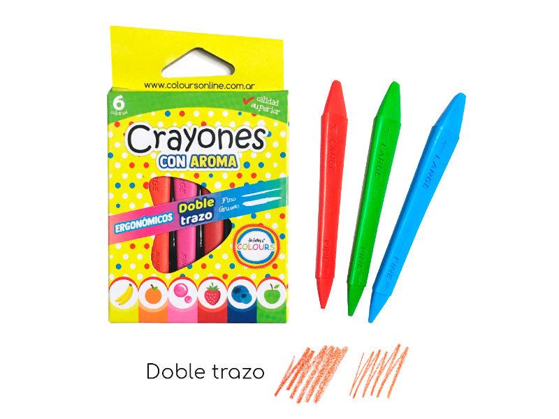 CRAYONES X6 C/2 TRAZOS C/AROMA