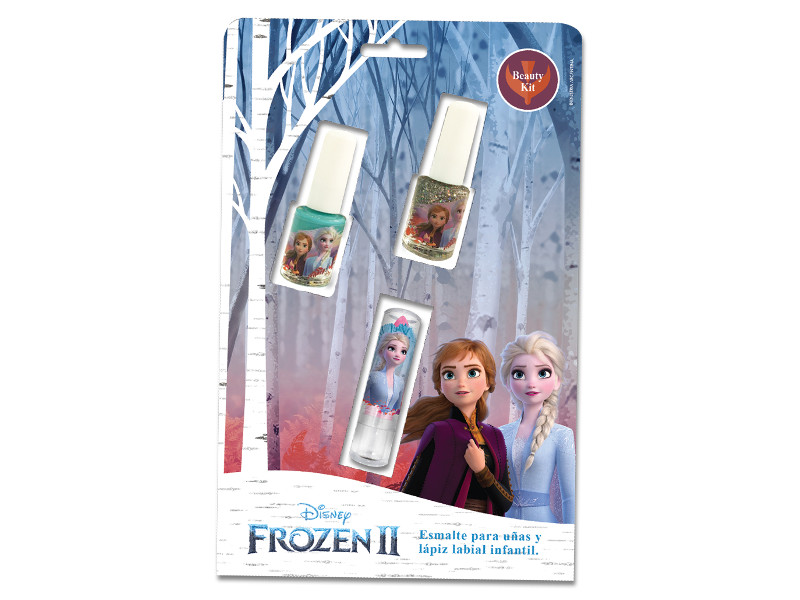 SET BLISTER 2 ESMALTES + 1 LABIAL FROZEN 2 - DDN
