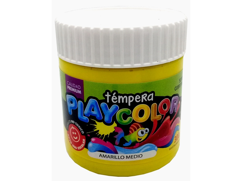 TEMPERA AMARILLO MEDIO POTE 300GRS PLAYCOLOR