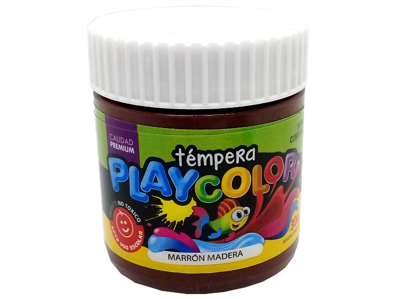 TEMPERA MARRON MADERA POTE 300GRS PLAYCOLOR