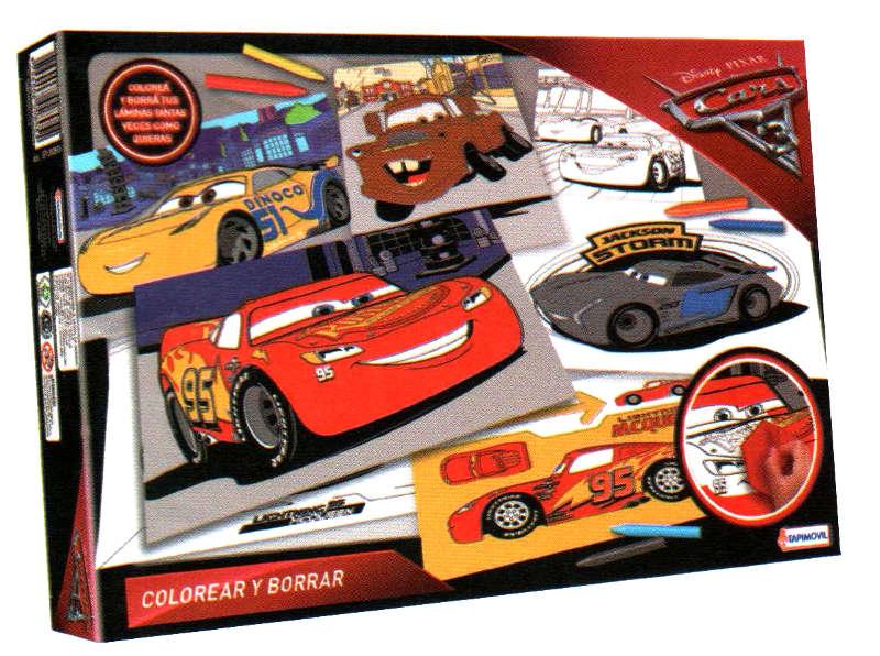 JUEGO COLOREAR Y BORRAR CARS - DDN