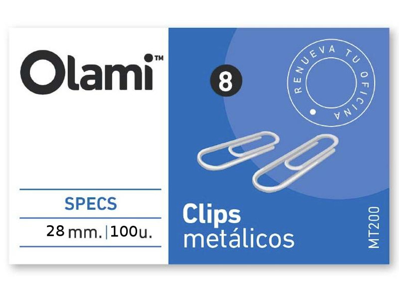 CLIPS METALICO X100 Nº3 (X10)