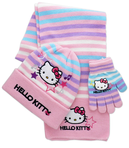 SET GORRO C/GUANTES + BUFANDA HELLO KITTY - IVR