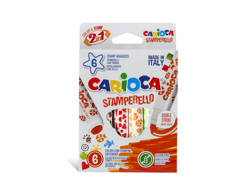 MARCADORES X6 COL. C/SELLO CARIOCA STAMPERELLO
