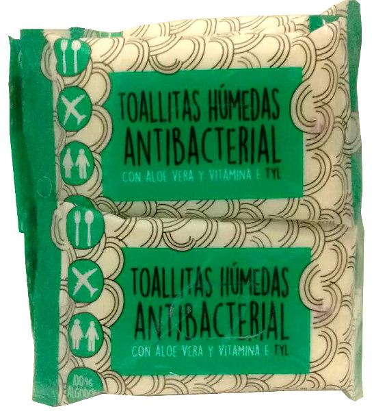 TOALLAS HUMEDAS P/MANOS ANTIBACTERIALES (X10)