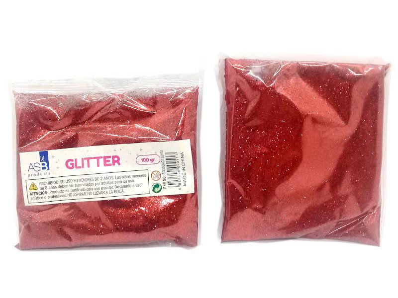 GLITTER MET.X100g.EXTRA FINO 8100/BO300 ROJO OSC.F128