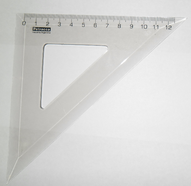 ESCUADRA ESCOLAR PLAST. 45GRADOS 12CM